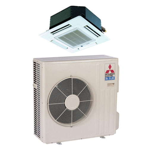 Mitsubishi SZ-KA09NA - 9,000 BTU 15 SEER MR SLIM Ceiling Cassette Ductless Mini Split Air Conditioner Heat Pump 208-230V