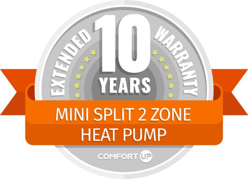 ComfortUp - Mini Split 2 Zone Heat Pump 10 Year Extended Warranty