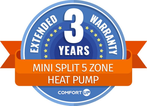 ComfortUp - Mini Split 5 Zone Heat Pump 3 Year Extended Warranty