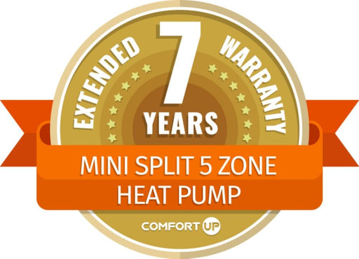ComfortUp - Mini Split 5 Zone Heat Pump 7 Year Extended Warranty