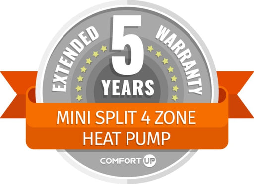 ComfortUp - Mini Split 4 Zone Heat Pump 5 Year Extended Warranty