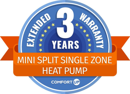 ComfortUp - Mini Split Single Zone Heat Pump 3 Year Extended Warranty