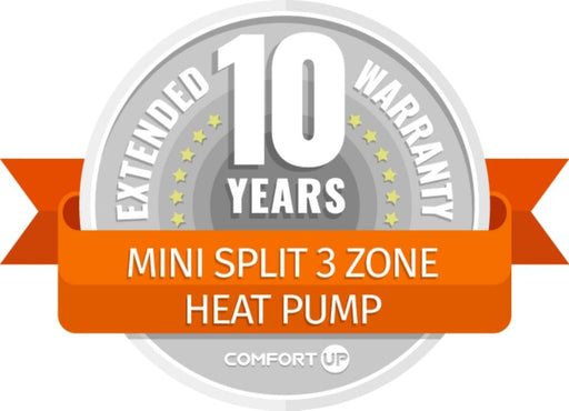 ComfortUp - Mini Split 3 Zone Heat Pump 10 Year Extended Warranty