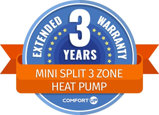 ComfortUp - Mini Split 3 Zone Heat Pump 3 Year Extended Warranty