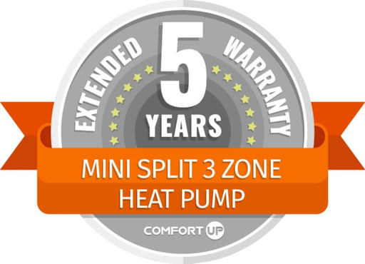 ComfortUp - Mini Split 3 Zone Heat Pump 5 Year Extended Warranty