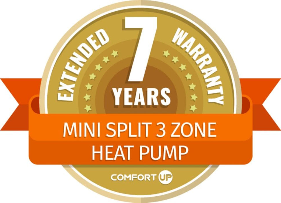 ComfortUp - Mini Split 3 Zone Heat Pump 7 Year Extended Warranty