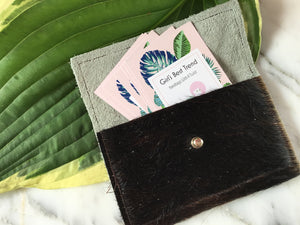 GBT Gems Cowhide Business Card/Coin Case