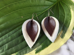 GBT Gems Cowhide Teardrop Earrings