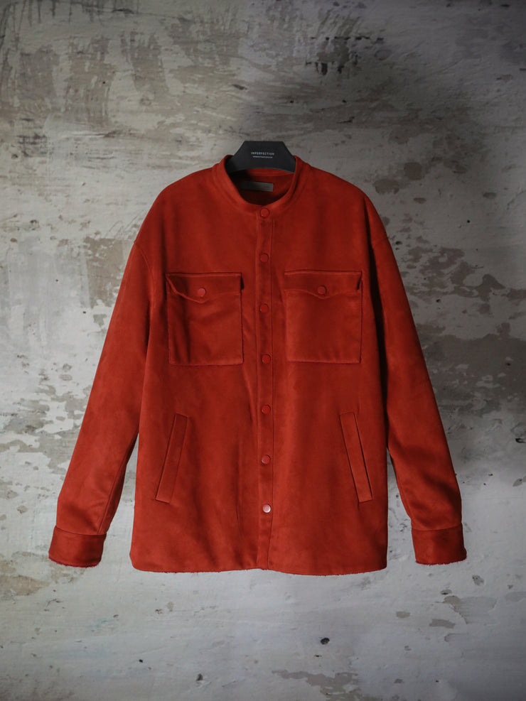 [Preorder] SUEDE SHIRT COTTON QUILTING JACKET