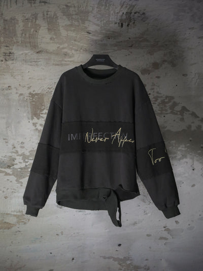 [Preorder] IMPERFECTION EMBOSSED CONTRAST SWEATSHIRT