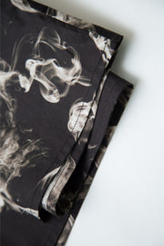 "BLACK SHIRT WITH PRINTED ""SMOKE/JELLY"" DETAILS"