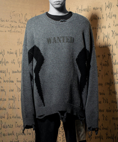 IMPERFECTION Maman distressed sweater