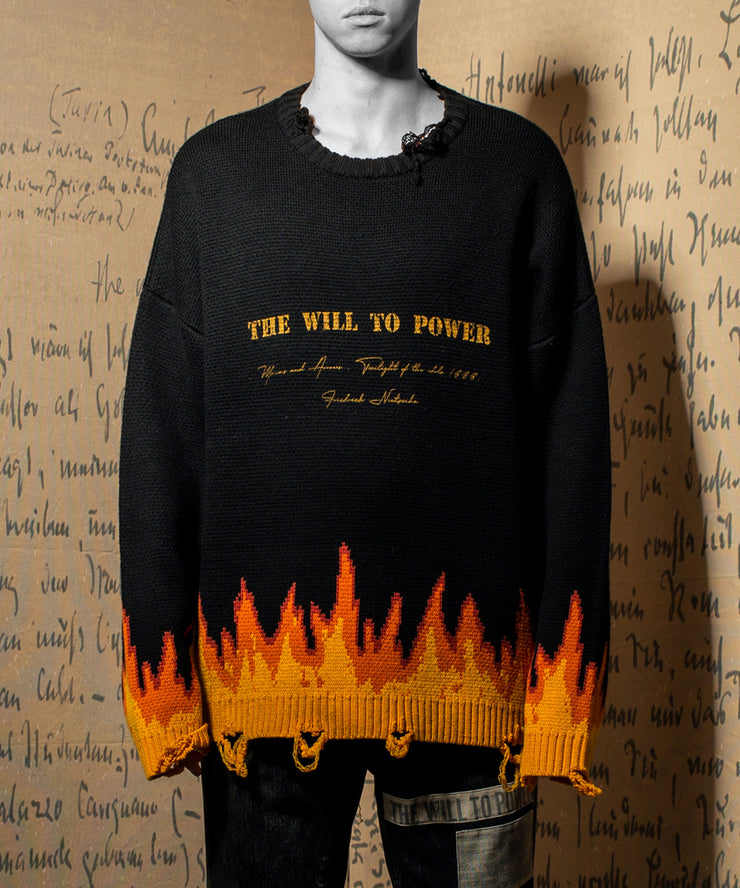 THE WILL TO POWER Firing Sweater