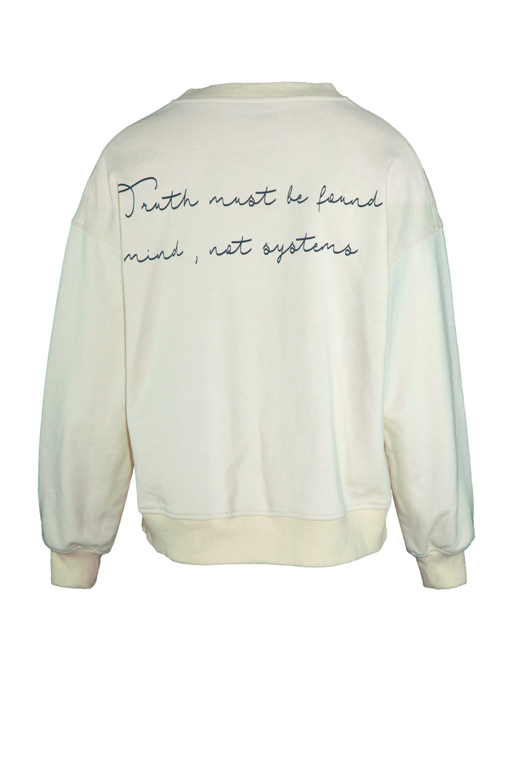 FATFREE CREAM SWEATSHIRT