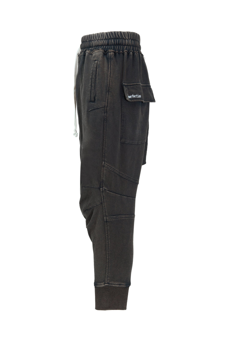 BLACK WASHED VINTAGE PANTS