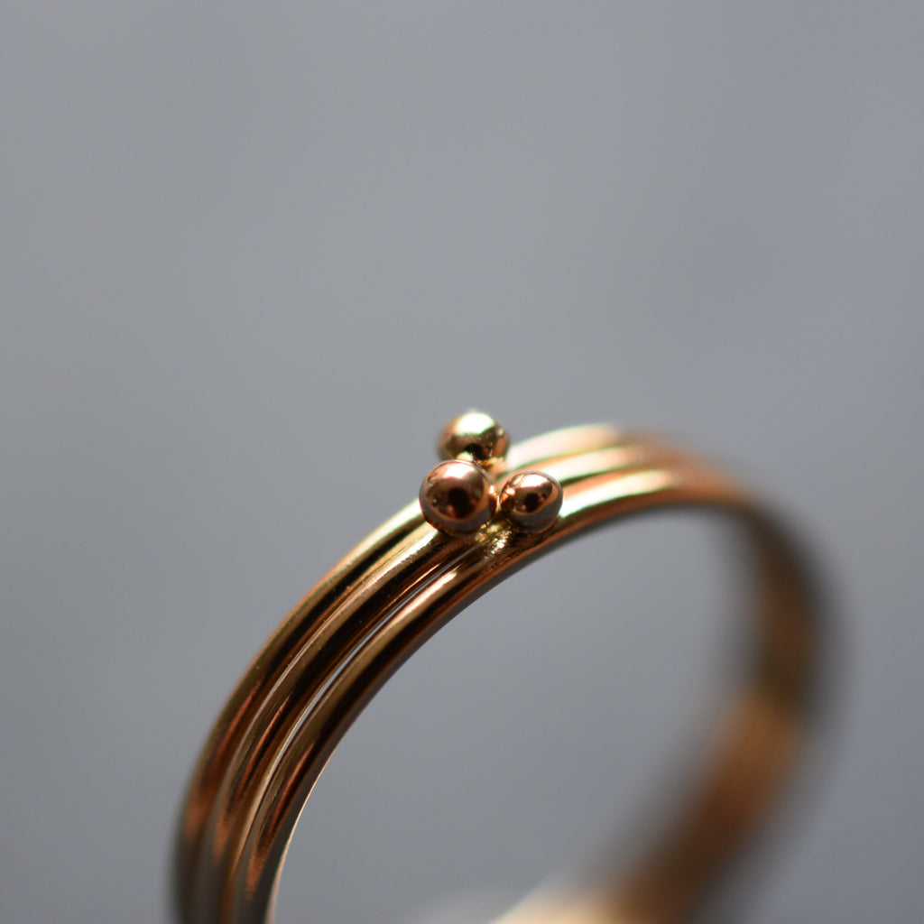 Gold Solitaire Stacking Ring
