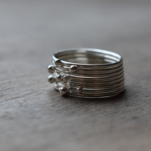 Solitaire Stacking Ring