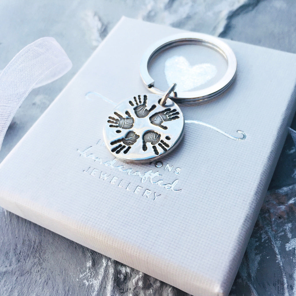 Multi Prints Handprint or Footprint Circular Charm - Joy Impressions