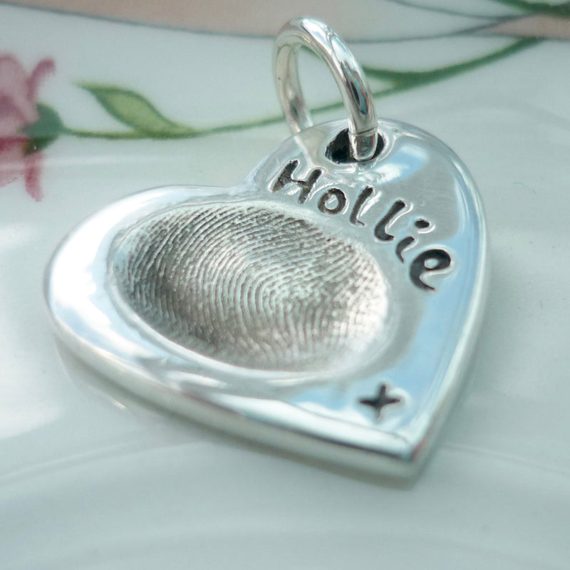 Heart Fingerprint Charm - Joy Impressions