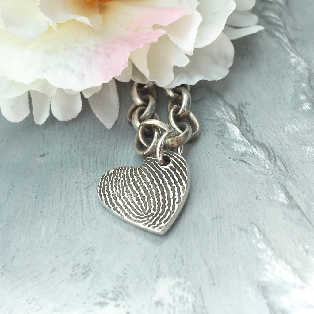 Enlarged Fingerprint Charm - Joy Impressions