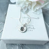 Circle Handprint or Footprint Charm Necklace - Joy Impressions