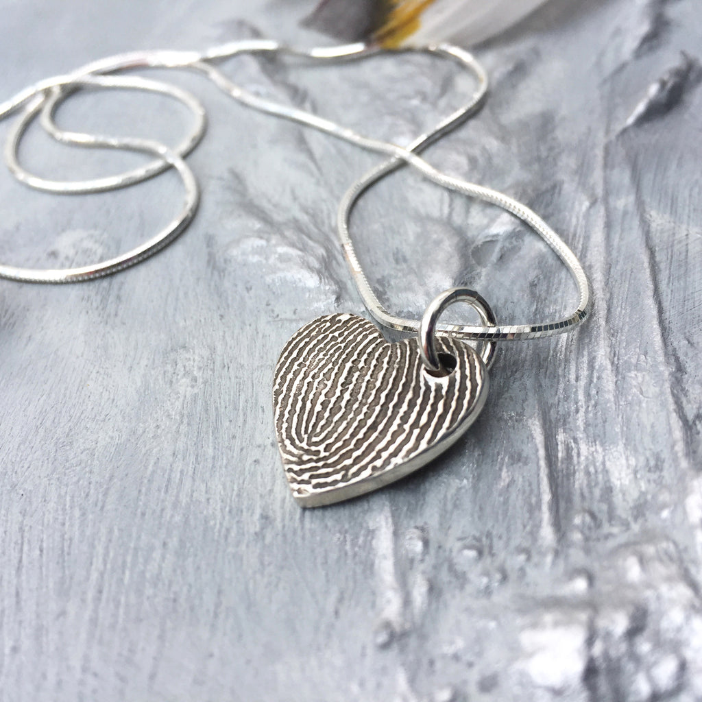 Enlarged Fingerprint Charm Necklace - Joy Impressions