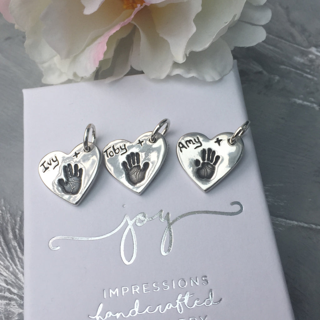 3 HANDPRINT CHARMS BY JOY IMPRESSIONS