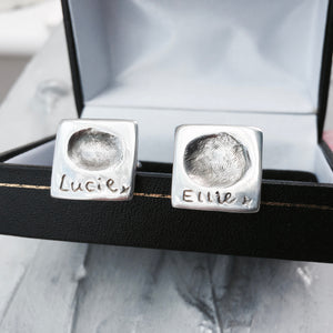 Square Fingerprint Cufflinks - Joy Impressions