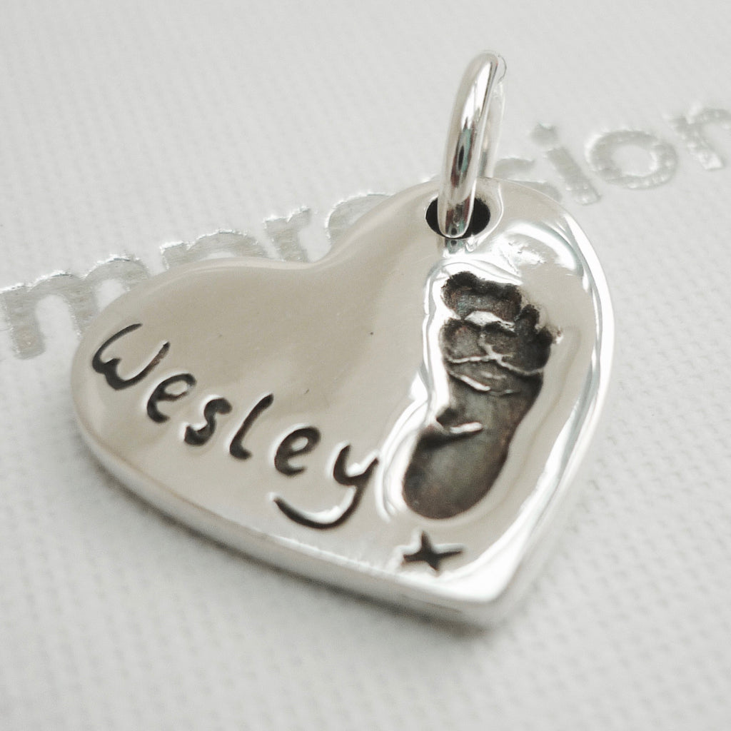 Heart Handprint or Footprint Charm - Joy Impressions