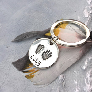 Hand & Footprint Rectangle/Circle Keyring - Joy Impressions