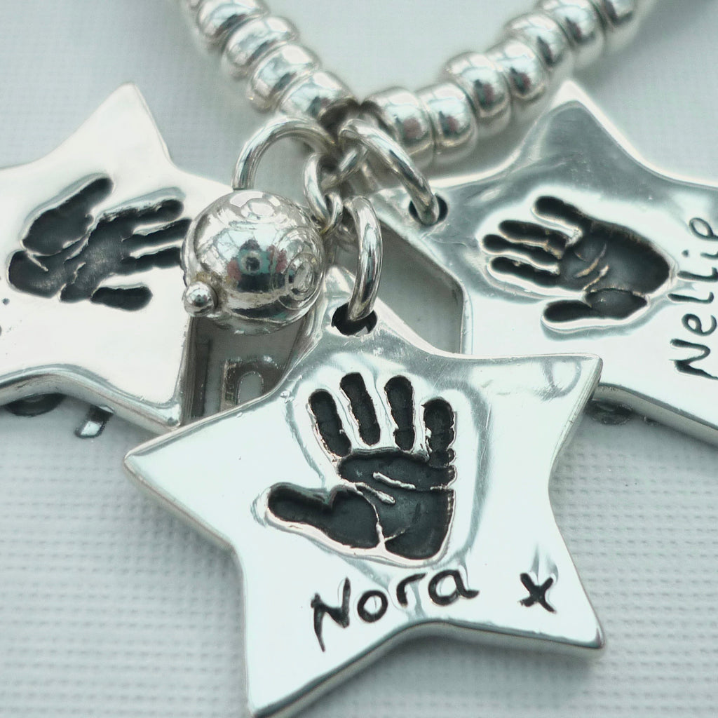 Star Handprint or Footprint Charm - Joy Impressions
