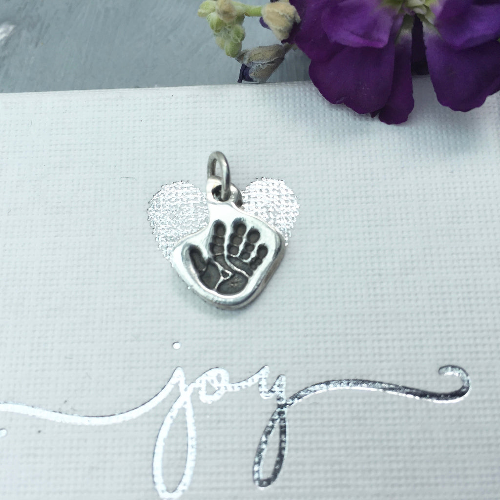 Shaped Handprint or Footprint Charm - Joy Impressions