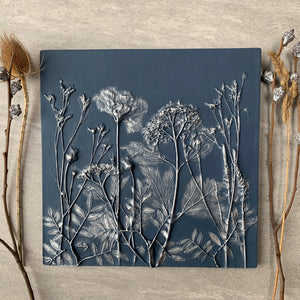 Botanical Cast - Deep Blue and Silver - Enchantment