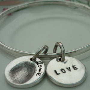 Circle Fingerprint Bangle - Joy Impressions