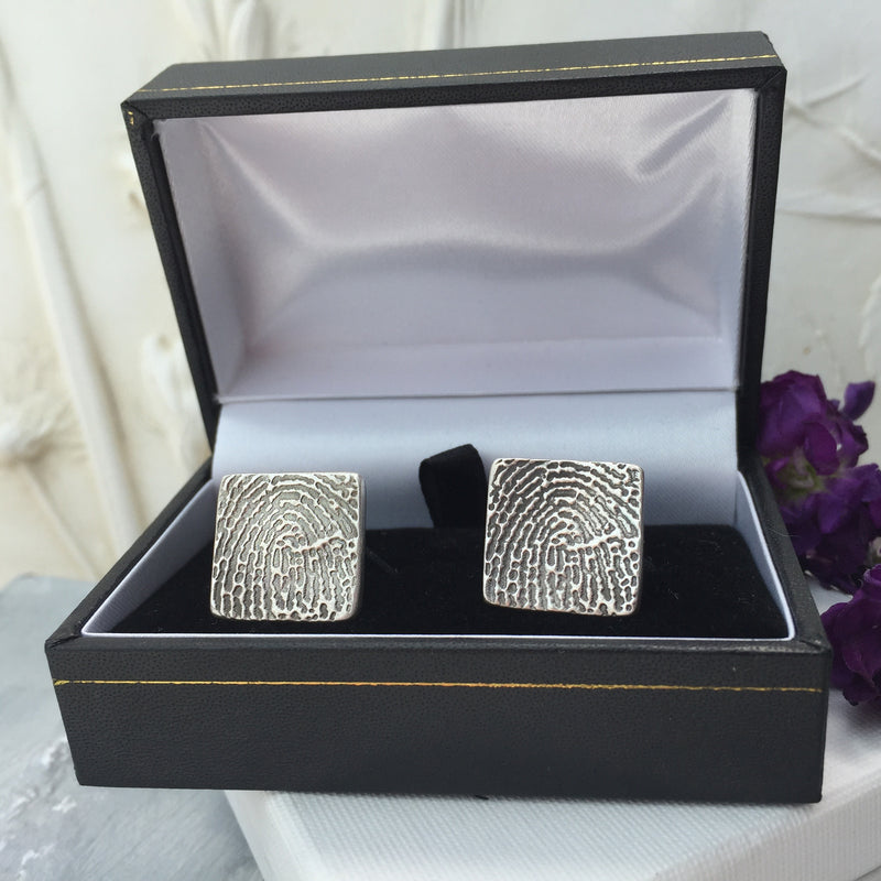 Enlarged Fingerprint Cufflinks - Joy Impressions