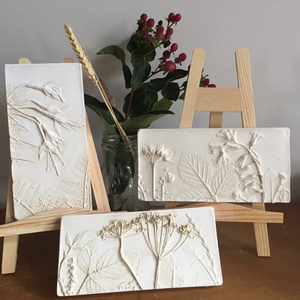 Flower Plaster Tile Casting with Ceramic Xmas Decorations - Date: 2nd November 9.30-12.30 - Joy Impressions