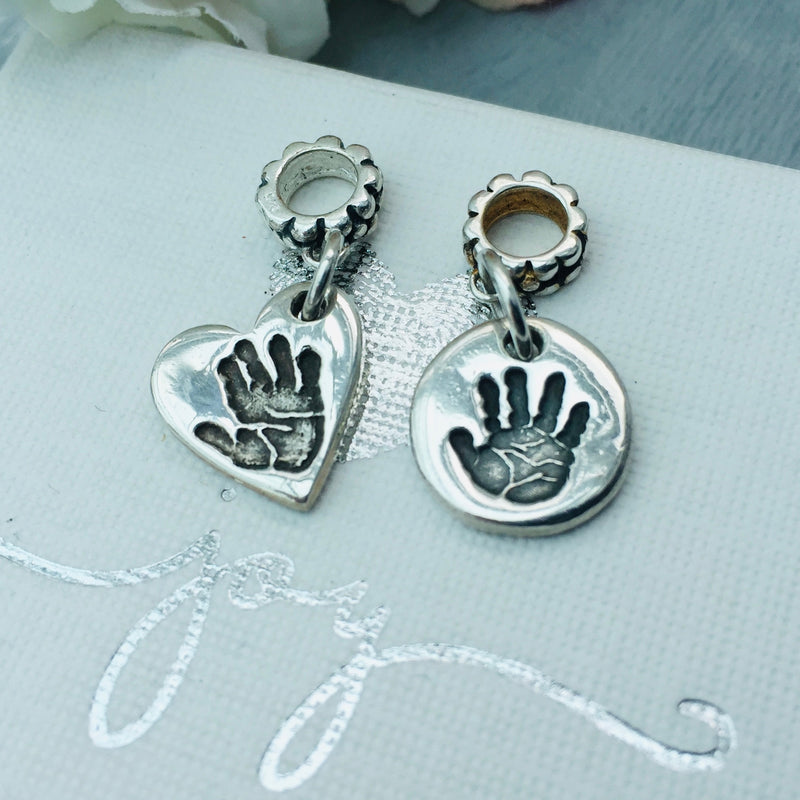 Personalised Pandora Compatible Mini Handprint or Footprint Charm - Joy Impressions