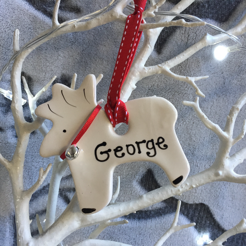 Personalised Bell Reindeer Decoration - Joy Impressions