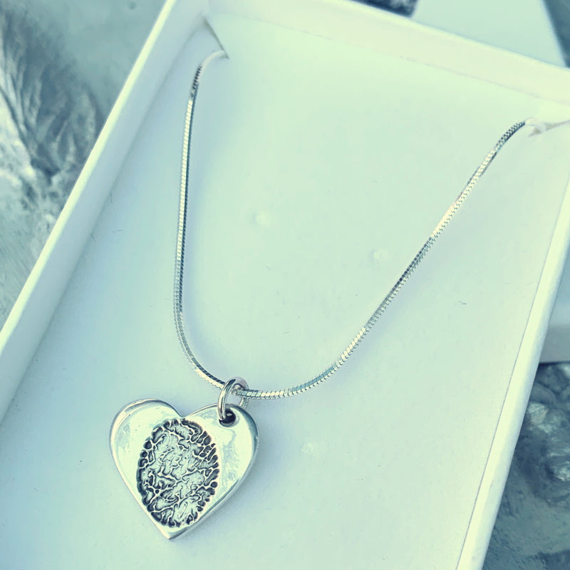 Ink Fingerprint Charm Necklace - Joy Impressions