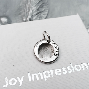 Circle Fingerprint Charm - Joy Impressions