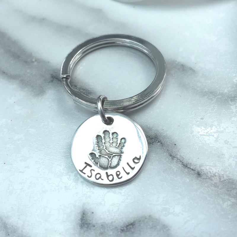 Circle Handprint Keyring by Joy Impressions