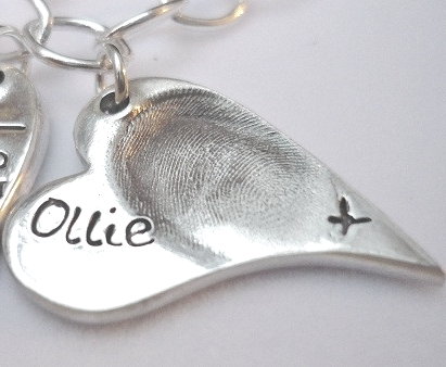 Elongated Heart Fingerprint Charm - Joy Impressions