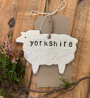 Yorkshire Sheep Ceramic Decoration
