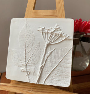 Cow Parsley, Fern and Bramble Leaf Cast White
