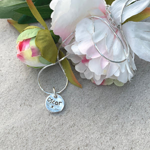 Paw Print  Circle Charm Necklace