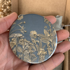 Slate Grey and Gold Pocket Mirror by Joy Impressions