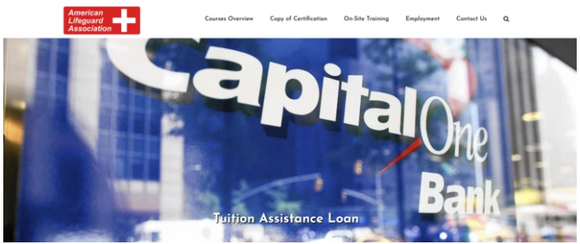 American Lifeguard and Safety Training™ Tuition Assistance through Capital One