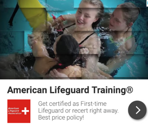 First Time Lifeguard Training with First Aid and CPR/AED that you can start and complete right away.  Save $100 today with special Grant!