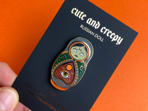 Basic Witch Russian Doll Hard Enamel Pin