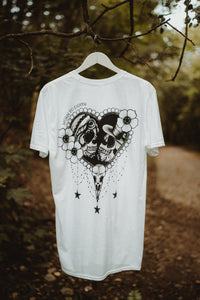 Worn to Death Skelton bride and groom t-shirt - back print
